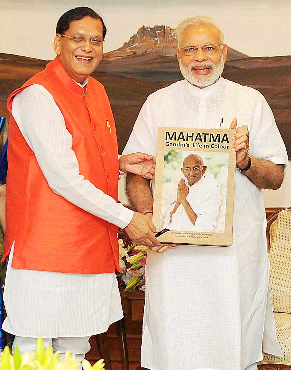 Dr. Bindeshwar Pathak and Narendra Modi